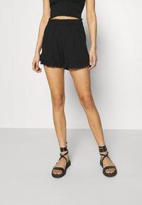ONLY - ONLNOVA LIFE FRILL - Shorts - black - 0