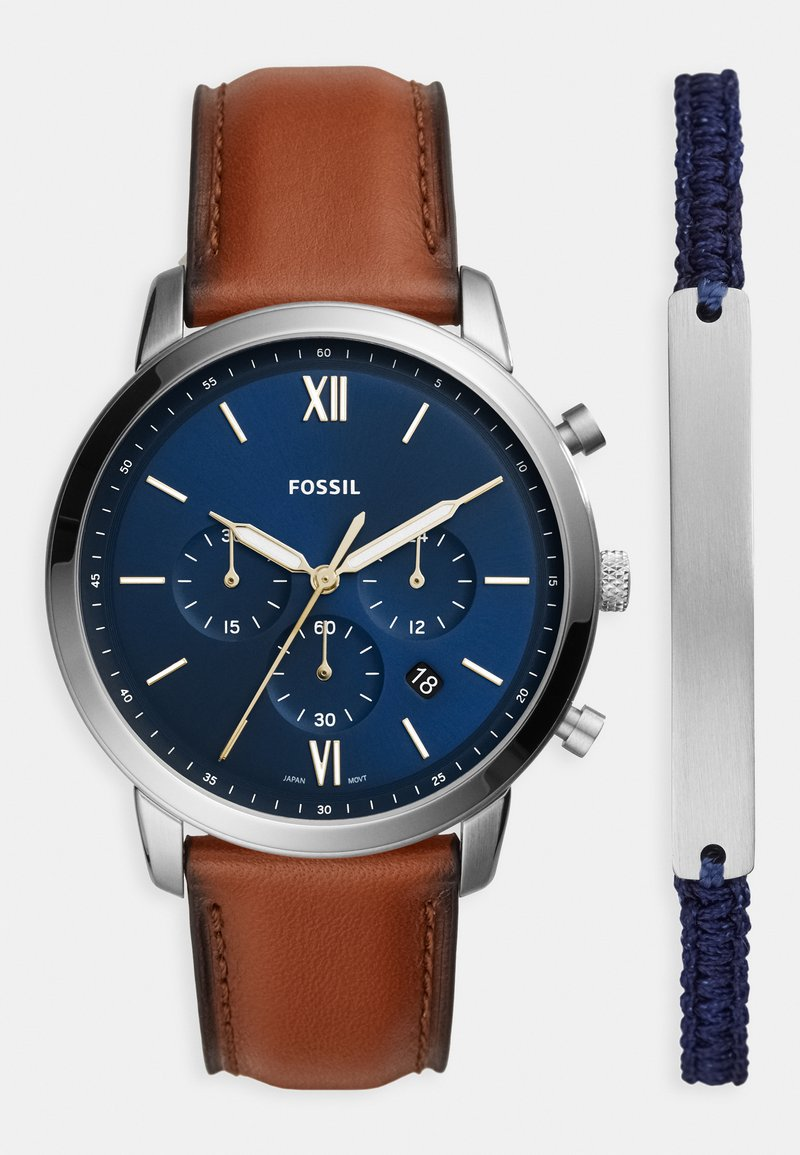 Fossil - NEUTRA CHRONO SET - Chronograph watch - brown