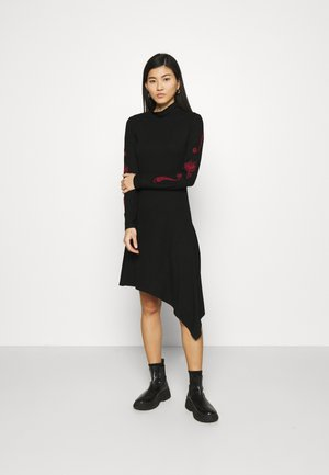 MARISSA - Jersey dress - black