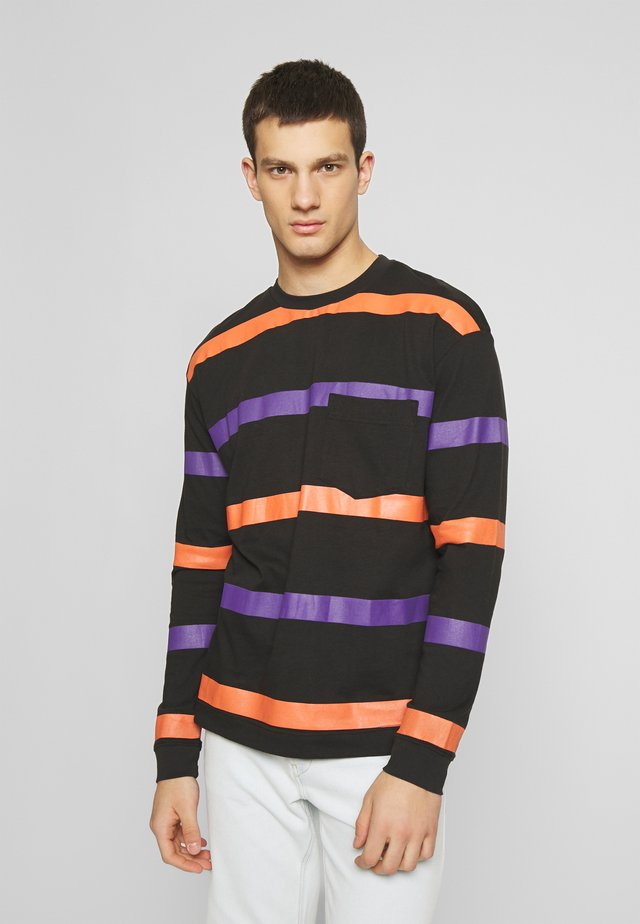LONG SLEEVE STRIPE - T-shirt à manches longues - black/multi