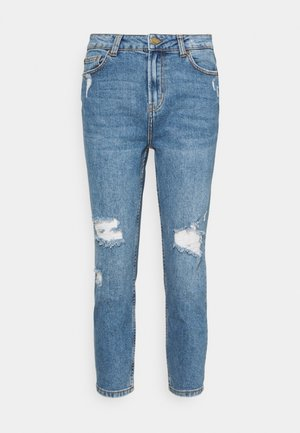 ONLEMILY CROP - Džíny Straight Fit - medium blue denim