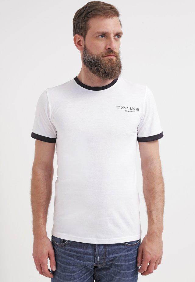 T-shirt basic - blanc/dark navy