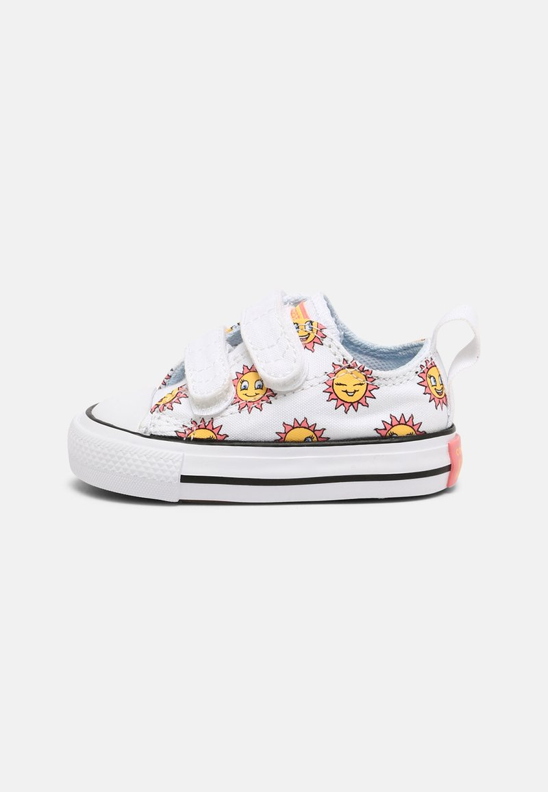 Converse - CHUCK TAYLOR ALL STAR UNISEX - Sneakers laag - white/citron pulse/chambray blue
