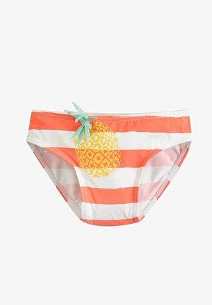 Bikini bottoms - coral, white