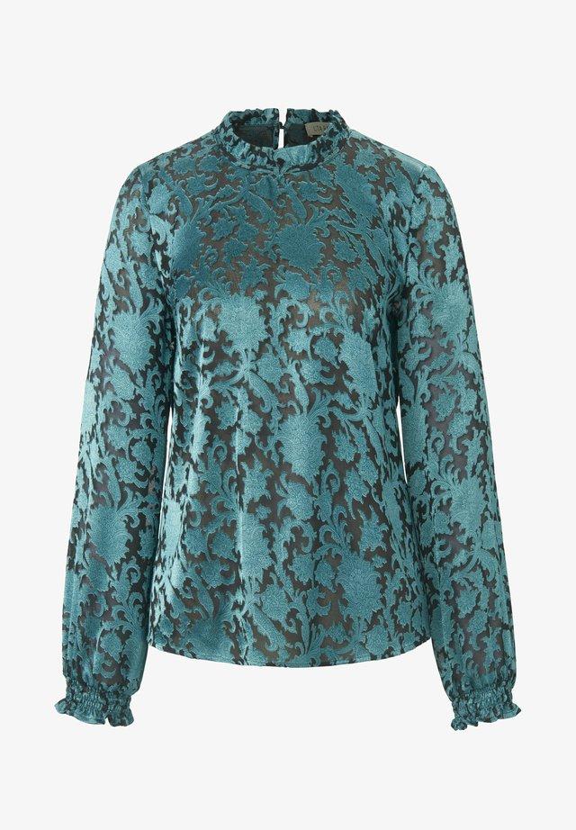 Bluse - smaragd/schwarz