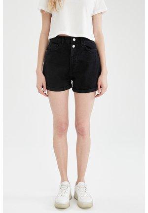 Denim shorts - black