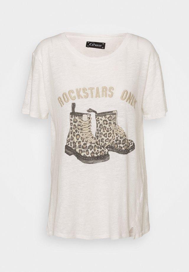 BOOTIES - T-shirt print - white