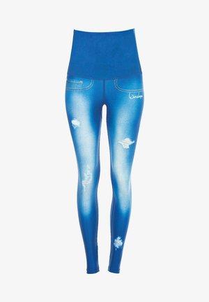 HWL102 INDIGO-BLUE HIGH WAIST -TIGHTS - Leggings - ocean blue