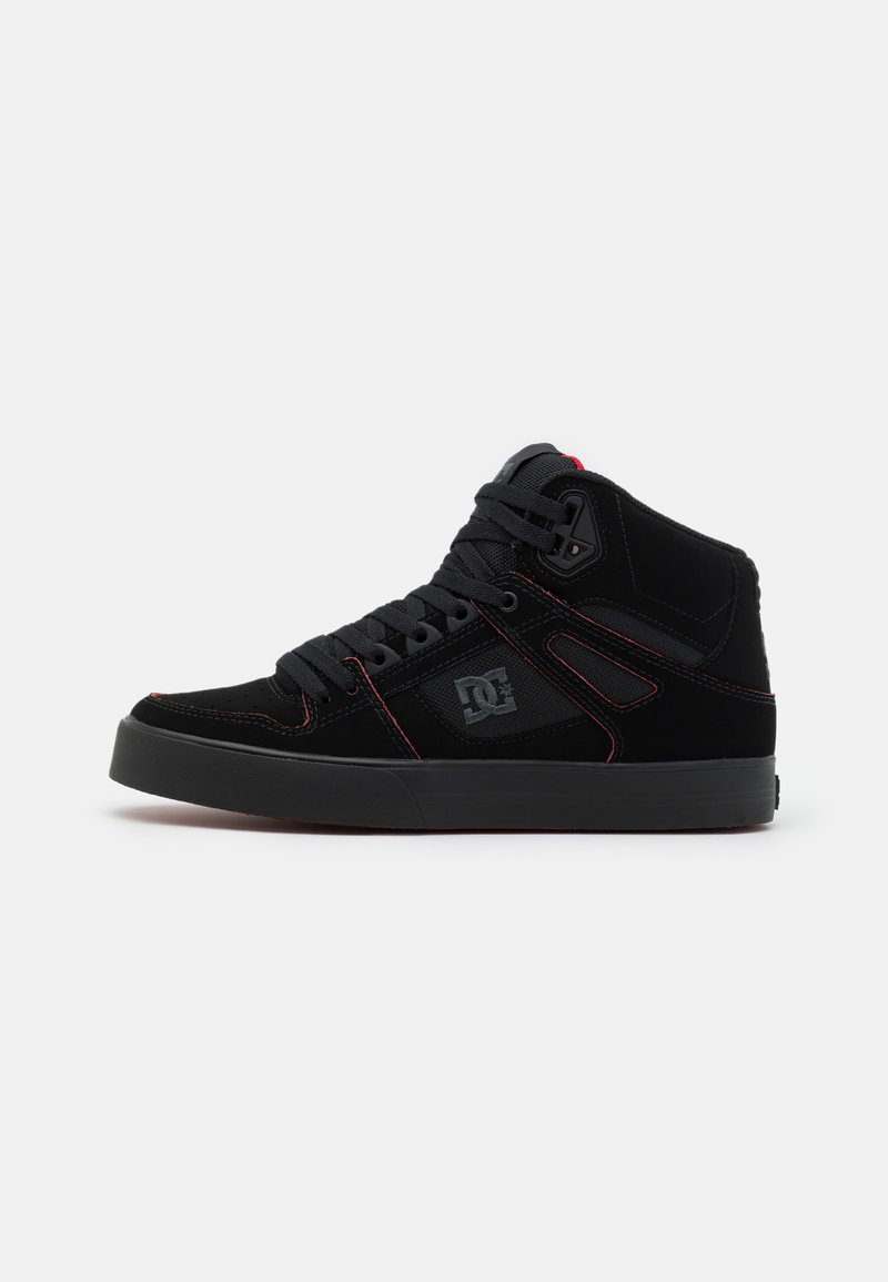 DC Shoes - PURE - Skate shoes - black/red/white