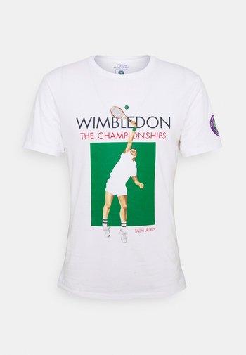 T-shirt med print - pure white