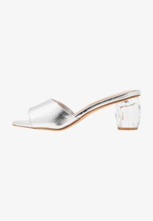 MAZIE - Heeled mules - silver