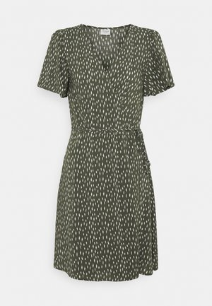 JDYSTAAR LIFE WRAP DRESS  - Kjole - beetle/cement