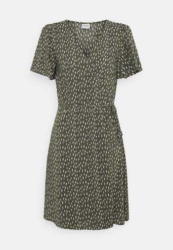 JDYSTAAR LIFE WRAP DRESS  - Day dress - beetle/cement