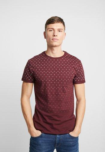 Camiseta estampada - bordeaux