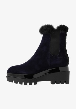 BAX BOOTIE - Platform ankle boots - heritage navy