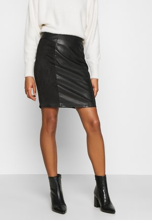 ONLELISA MIX SKIRT - Minijupe - black