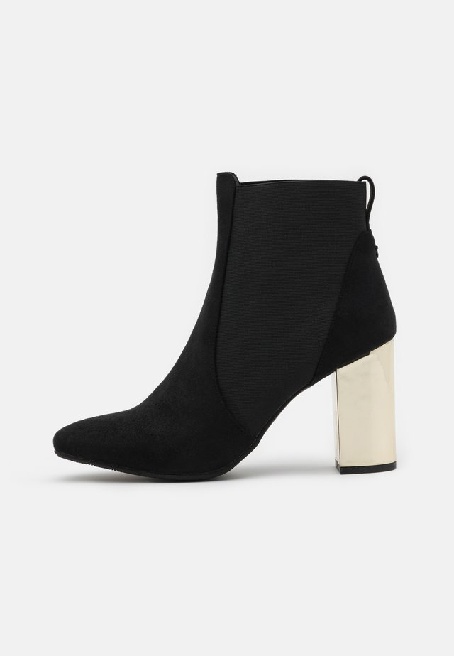 LANAKEN - High heeled ankle boots - black