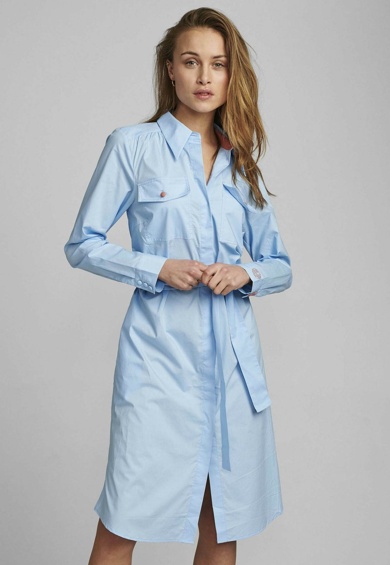 Nümph - NUDAIJA DRESS - Shirt dress - airy blue