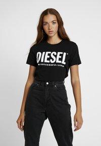 Diesel - T-SILY-WX MAGLIETTA - Print T-shirt - black - 0