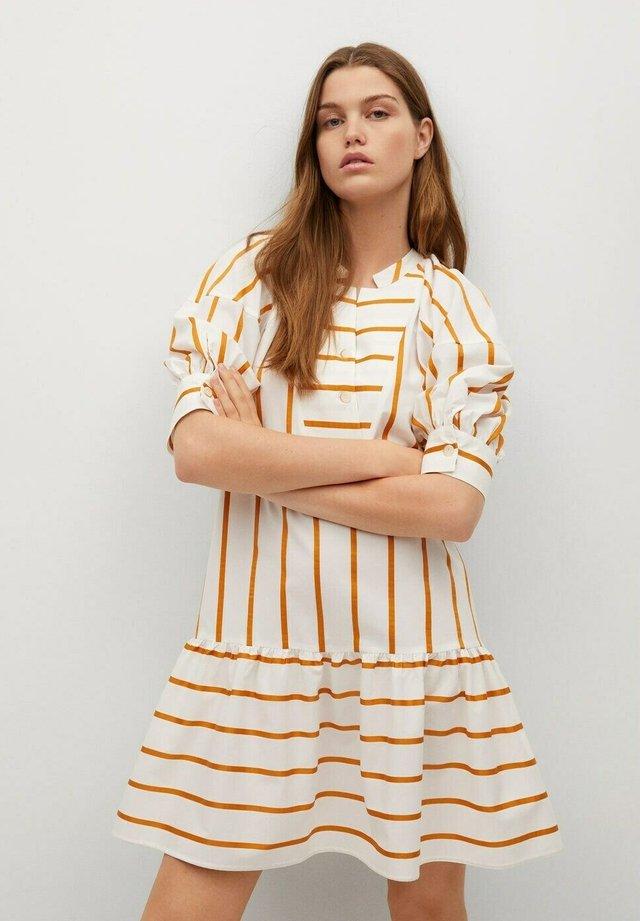 Day dress - orange, white