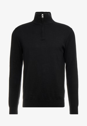HALF ZIP - Sweter - black