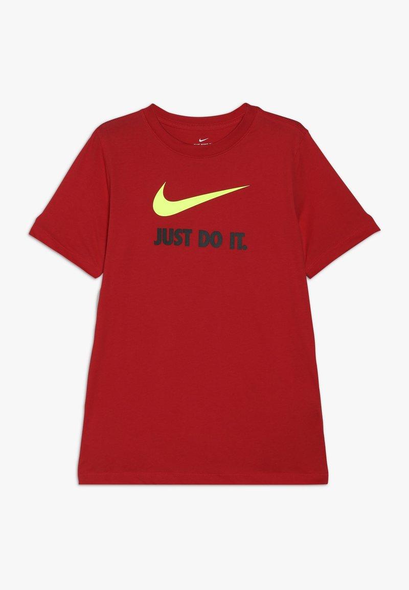 Nike Sportswear - Triko spotiskem - university red/volt