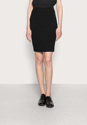 WIA ASTRID SKIRT - Pouzdrová sukně - black deep