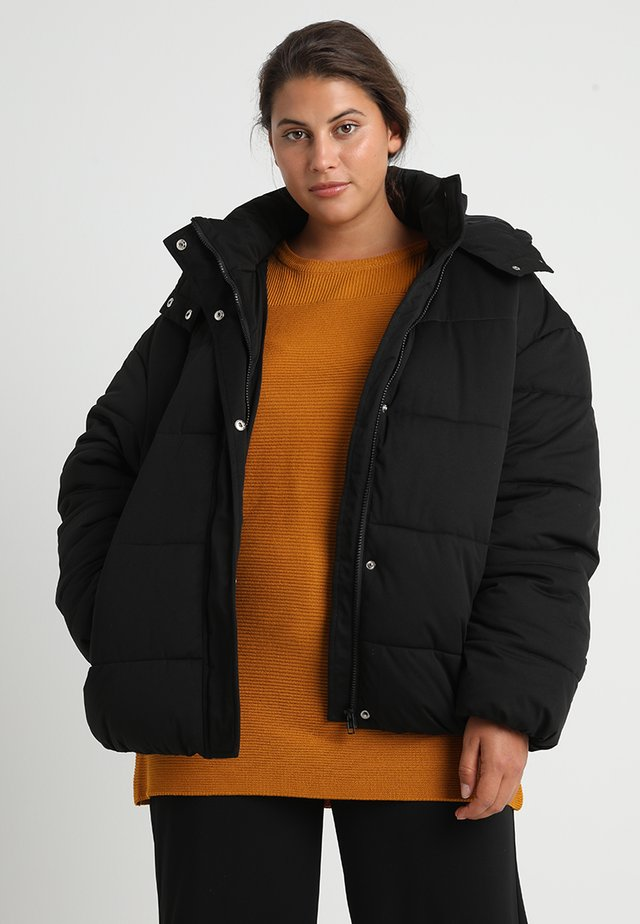 LADIES BOYFRIEND PUFFER JACKET - Winter jacket - black