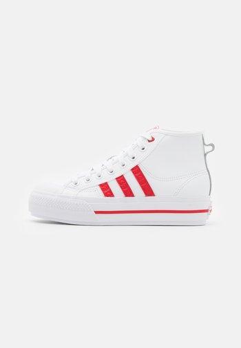 NIZZA PLATFORM  - Sneakers hoog - footwear white/scarlet red