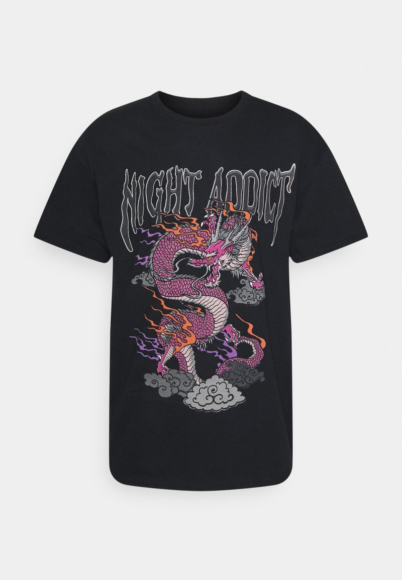 Night Addict - Print T-shirt - black