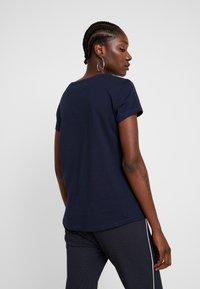 TOM TAILOR DENIM - DOUBLE PACK BASIC TEE - T-shirt z nadrukiem - white/navy - 2