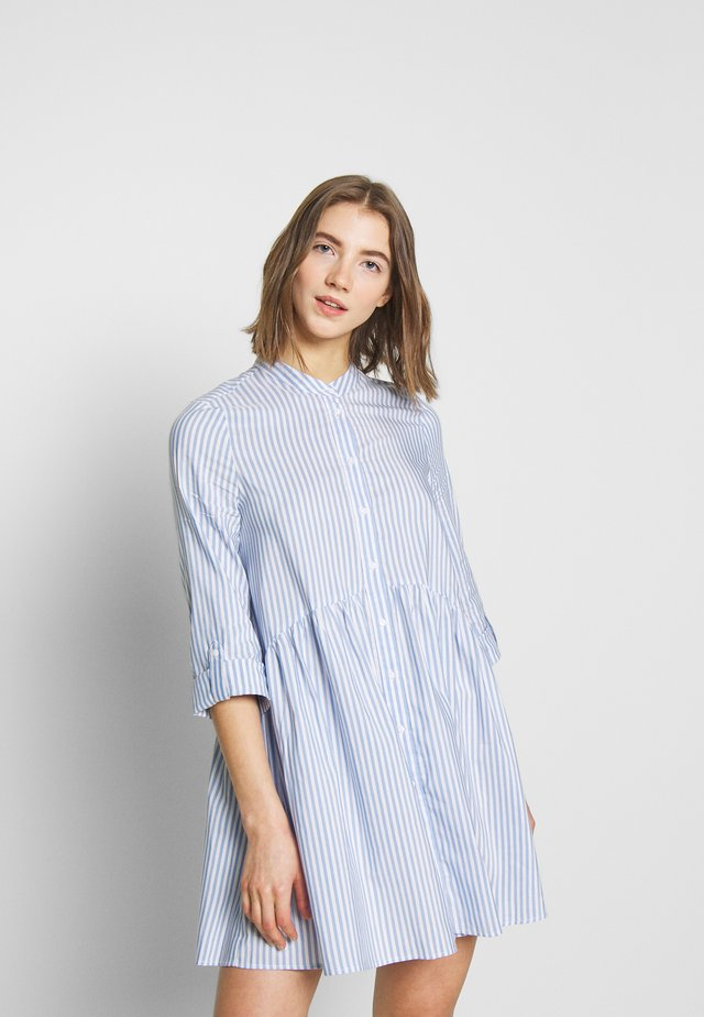 ONLDITTE LIFE  3/4  - Shirt dress - cloud dancer/blue