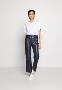 Coach - PANT - Leather trousers - navy - 1