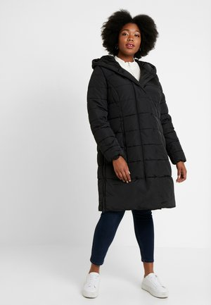 COLD PUFFER LONGCOAT - Winter coat - deep black