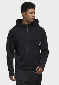 adidas Performance - MUST HAVES ENHANCED AEROREADY HOODED - Sweatjacke - black - 0
