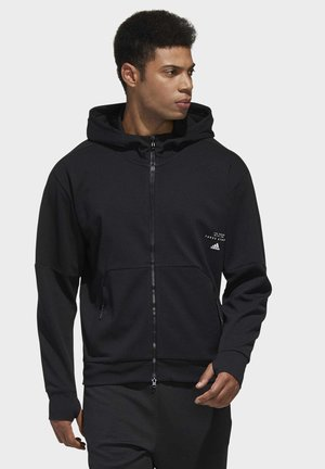 MUST HAVES ENHANCED AEROREADY HOODED - Bluza rozpinana - black