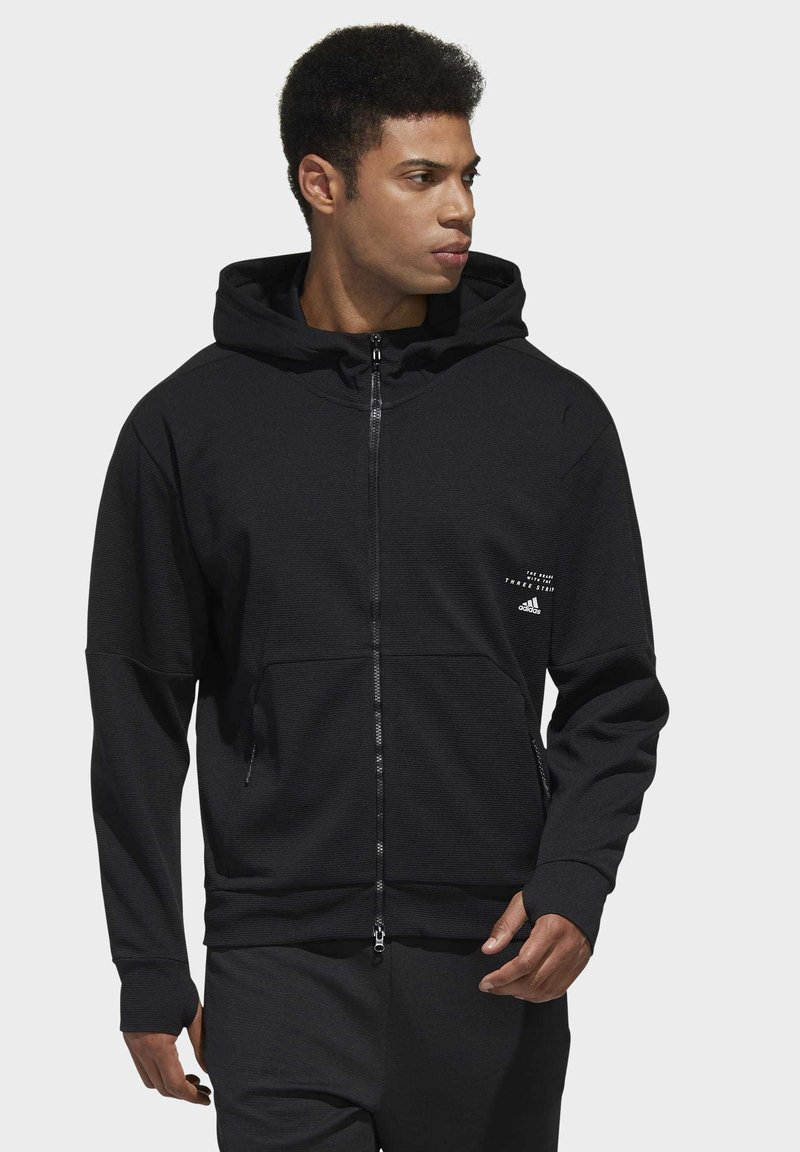 adidas Performance - MUST HAVES ENHANCED AEROREADY HOODED - Sweatjacke - black