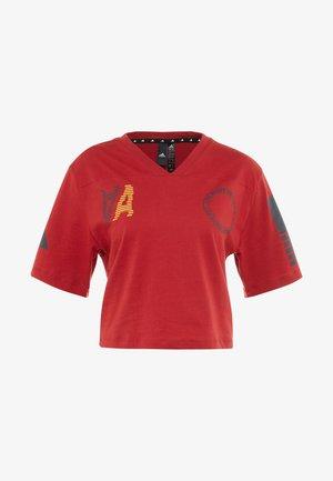 TEE - T-shirts med print - active maroon