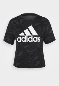 adidas Performance - Print T-shirt - black/white