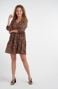 MS Mode - Day dress - multi pink-red - 1