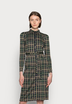 ROSIE SLIM FIT DRESS ZEPPELIN CHECK - Day dress - sapphire blue