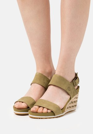 CAPRI SUNSET WEDGE - Wedge sandals - olive