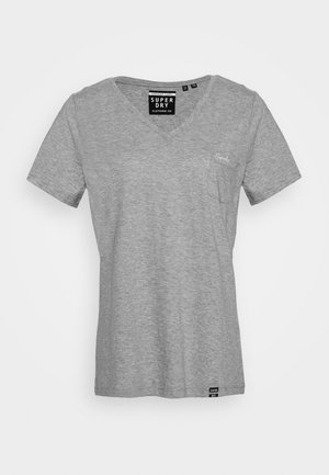 ESSENTIAL VEE TEE - Basic T-shirt - grey