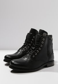 Sneaky Steve - KINGDOM - Lace-up ankle boots - black - 2