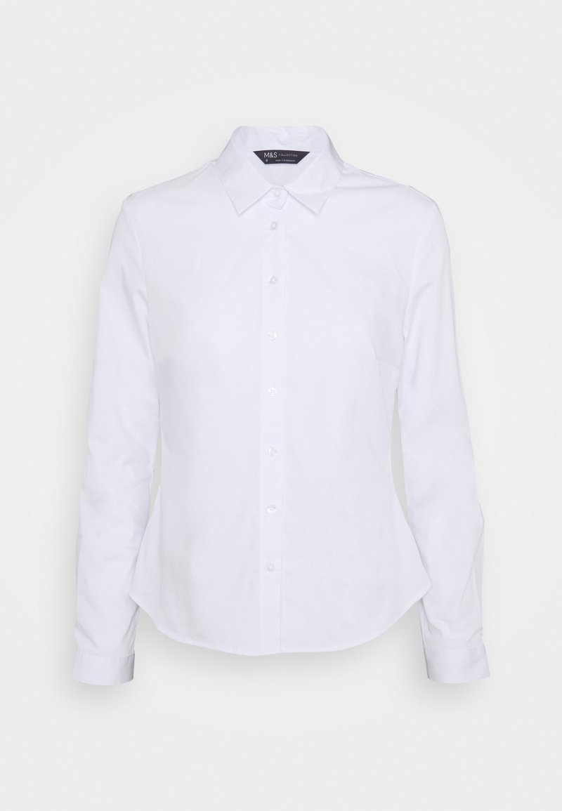 Marks & Spencer London - FITTED SHIRT - Button-down blouse - white