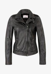 7eleven - IN TRENDIGEM LOOK - Leather jacket - anthra - 0