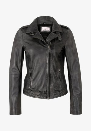 IN TRENDIGEM LOOK - Leather jacket - anthra