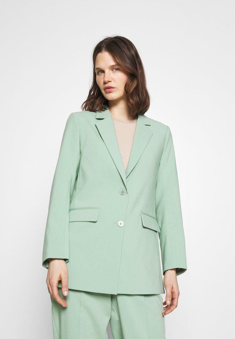 Part Two - Short coat - granite green