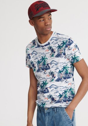 T-shirt con stampa - ice marl aop
