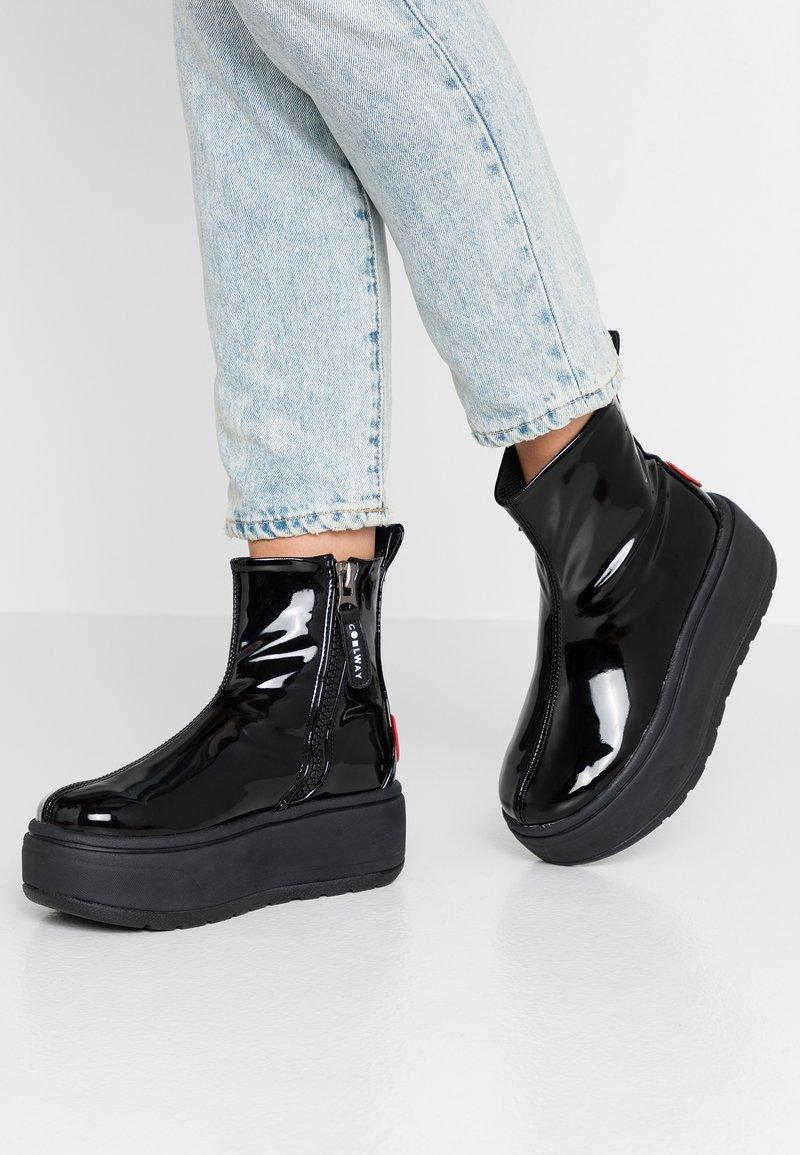 Coolway - RUIAN - Platåstøvletter - black